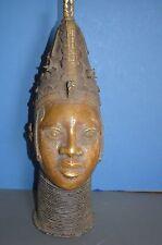 Very Large (57cm Tall) Mid 20th Century African Benin Tribal Bronze, c1950