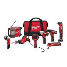 Milwaukee Drill Driver Combo Tool Kit Cordless Speed Durability 8 Tool 12 Volt