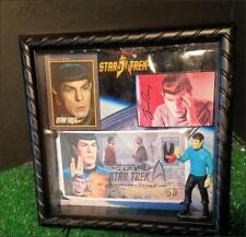 Mr Spock Star Trek 8x8 Shadowbox Display FDC Card Reprint Autograph Figure