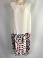 NEW ELM size 10 white sleeveless dress RRP $130