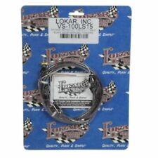 "Lokar Vs-100Ls15 36"" Vintage Throttle Cable Kit - Black w/Red Tracers For Gm Ls1"