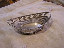 Antique Sterling Silver Bowl Signed GR Lion Hallmark
