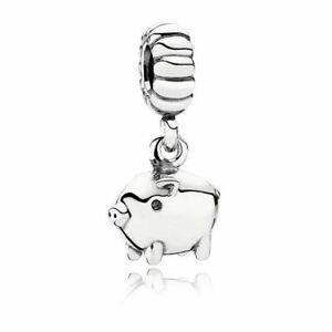 Genuine Pandora Charm Sterling Silver Chinese Zodiac Pig Animal Hanging 791094