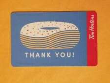 2019 Tim Hortons Donut With Sprinkles Thank You Empty Gift Card Reloadable