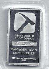 Pan American .999 Silver Bar 1/4 Troy Oz Northwest Territorial Mint