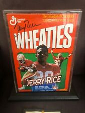 1994 NFL Jerry RICE Autograph Signed WHEATIES Cereal Box 49ers Football HOF Case