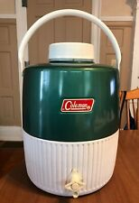 Vintage Coleman snow-lite Jug 2 Gallon GREEN Water Cooler