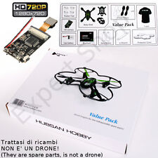 VALUE PACK con CAMERA HD 720p DRONE H107C 2,4Ghz mini X4 RC **ORIGINALE HUBSAN**