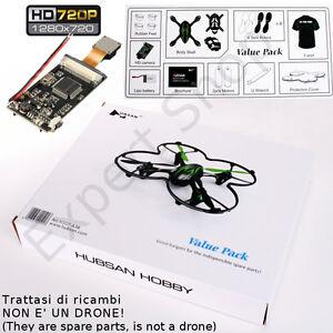 VALUE PACK con CAMERA HD 720p DRONE H107C 2,4Ghz mini X4 RC **ORIGINALE HUBSAN**