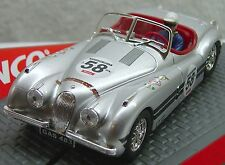 Ninco 50465 Jaguar Xk 120 Silver #58 New 1/32 Slot Car Display Case