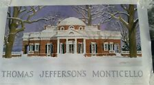 Thomas Jefferson Monticello Charlottesville Watercolor Poster Ruseau IMMACULATE