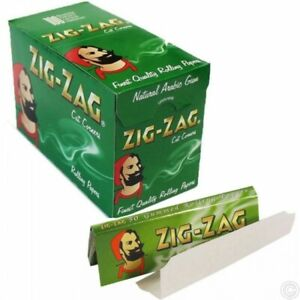 ZIG ZAG Green Rizla Cut Corners ROLLING Papers Cigarette Filter - 100 Booklets