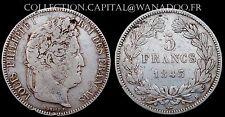 5 Francs 1843K  Louis Philippe 1er Côte TB 75€