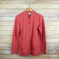 LOGO LORI GOLDSTEIN LOUNGE Women's Zip Front Side Pockets Sweater XS Extra Small