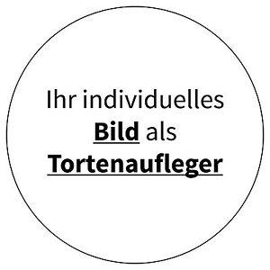 10/14/20cm Ø - Foto Tortenaufleger rund individuell Fototorte Geburtstag Taufe