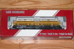 RED CABOOSE RR-32527-11 100 TON EVANS COIL CAR MILWAUKEE ROAD MILW 92267