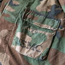 Vintage Vietnam USMC Marine Corps ERDL Camo Shirt Jacket DIstressed Worn M