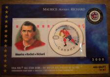 Canada # 1838c NHL ALL STARS Maurice Richard  2000 HOCKEY CARD & STAMP  sealed