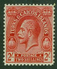 SG 174 Turks & Caicos 2/- red/emerald. Fine unmounted mint CAT £25