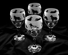 More details for golden retriever. wine glasses by glass in the forest