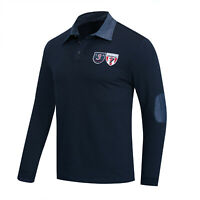 New Men Shield Polo Shirt Long Sleeve Embroidered Polo Shirt Cotton T Shirt Tops