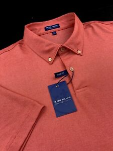 Peter Millar Crown Crafted Ace Performance Cotton Blend Solid Polo Autumn XL