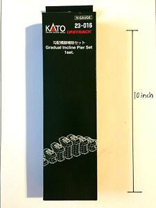 Kato N Scale 23-016 Gradual Single Track Incline Pier Set