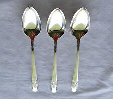 "3 Wm ROGERS & SON IS ""Talisman"" SERVING SPOONS International Silver 8-3/8"""
