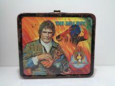 Vintage THE FALL GUY STUNTMAN ASSOCIATION Metal Lunchbox & Thermos 1981 Aladdin