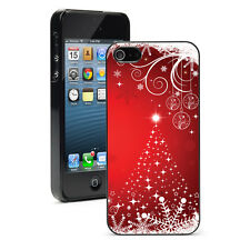 For iPhone SE 5 5S 5c 6 6s 7 Plus Hard Case 766 Red Christmas Tree Snowflakes