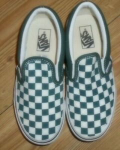 VANS OFF THE WALL CLASSIC SLIP-ON CHECKERBOARD KIDS/ UNISEX TRAINERS SIZE UK 13