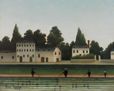 Landscape and Four Fisherman by Henri Rousseau 60cm x 48cm Art Paper Print