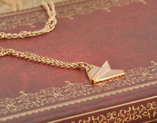 Fashion Inifinity One Direction Band Gold Color Paper Airplane Charm Necklace