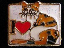 I love Heart my Calico Cat Wht Sq Floating Locket Charm