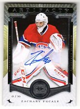 2015-16 Artifacts Rookie Redemptions XI Zachary Fucale Autographed RC 62/135