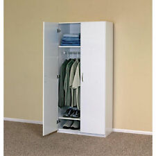 'White Wardrobe Cabinet Clothing Closet Storage Modern Organizer Bedroom Shelf' from the web at 'https://i.ebayimg.com/thumbs/images/g/-MEAAOSw1h5XP6cA/s-l225.jpg'