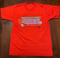 Vintage 90 Super Bowl XXV San Francisco 49ers Single Stitch Screen Stars Tshirt