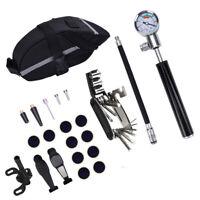 16-in-1 Bike Bicycle Repair Tool Kit Pump Bag Hex Wrench Tyre Tools Set