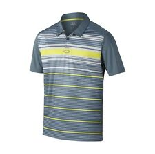 "OAKLEY LEGACY POLO GOLF SHIRT GRAY MENS SIZE large 433451 ""HYDROLIX"""