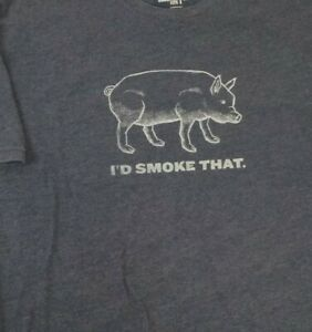 Traeger TShirt BBQ I'd Smoke That Black short sleeve Mens Sz. LARGE t-shirt
