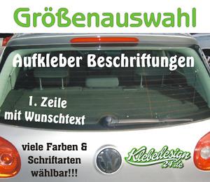 1. Zeile Aufkleber Beschriftung 30-180cm Werbung Sticker Werbebeschriftung Auto