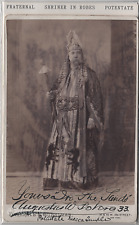 Antique cabinet photo: Shriner potentate in full robes Signed New York Gubelman