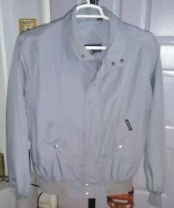 Vintage  Members Only  Zip Up    Old Mans  Jacket  Hong Kong  Size 44