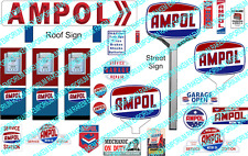 HO Scale Ampol Servo Sign Kit - Model Railway Signs - HOAM1