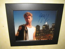 George Michael Excellent Signed Photograph (10x8) Framed and Ready To Hang + CoA