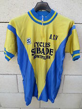 VINTAGE Maillot cycliste A.C.V Cycles SIBADE MONTPELLIER Sibille jersey shirt L
