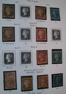 GB Stamp Collection:1d Black,much QV,EVII,Seahorses,EVIII,GVI ,E2, Officials etc