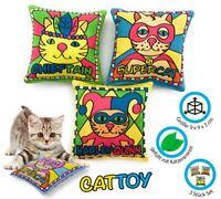 Set aus 3 Schmusekissen mit Katzenminze Katzenkissen Schmusespielzeug elanox