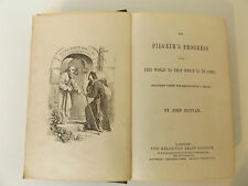 c1876 THE PILGRIM'S PROGRESS John Bunyan ILLUSTRATED with 15 Pages of Plates