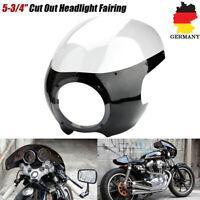 """5 3/4"""" Motorrad Verkleidung Frontmaske Für Cafe Racer Scheinwerfer Windschutz"""